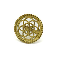 Round Star Wire Brass Gold Plated Finger Ring