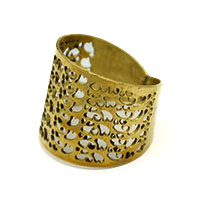 Jali Brass Finger Ring