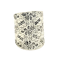 Small Flowers Silver Large Finger Ring