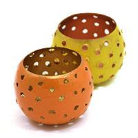 Ambika Bowl Tea Light Holder Set