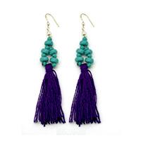 Hanging Earrings-Purple