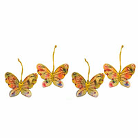 Butterfly Hand Painted Ornaments-Set of 4