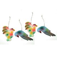 Cock & Bird Ornaments-Set of 4