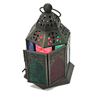 Multi Window Glass Mahfil Candle Lantern
