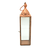 Simple Copper White Transparent Glass Lantern