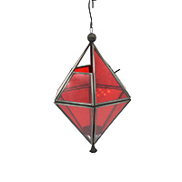Red Glass Hanging Lantern