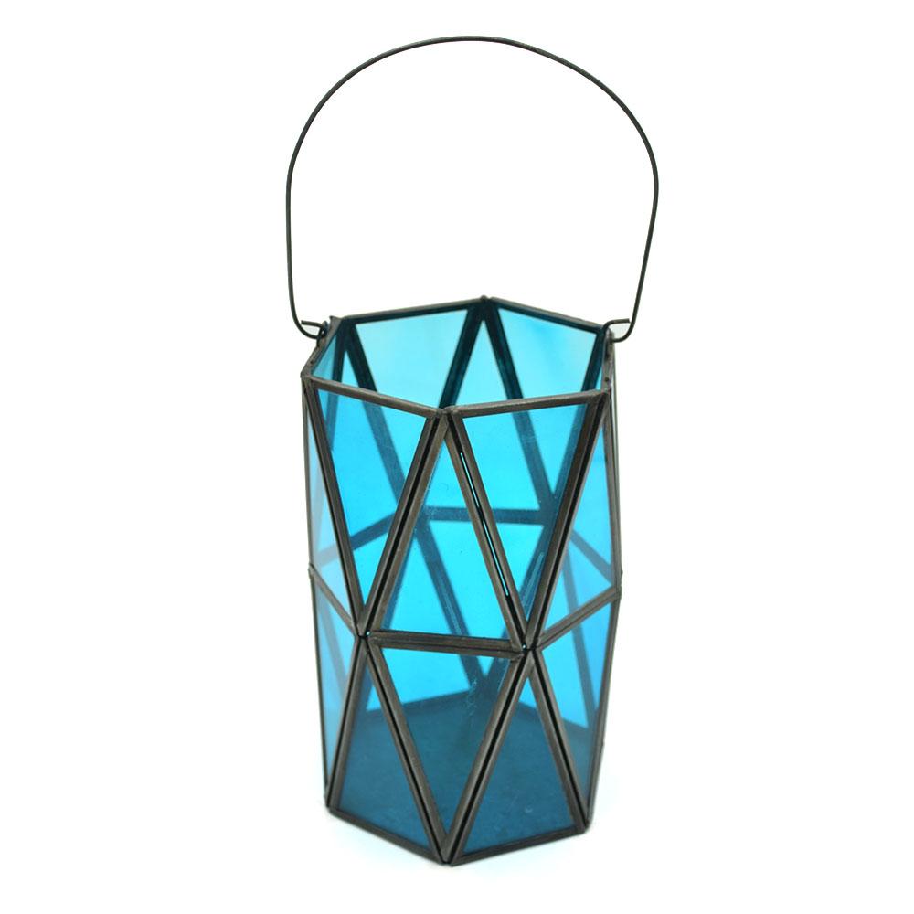 Blue Glass Decorative Lantern