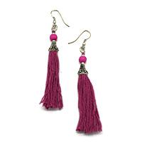 Fuscia Hanging Earrings