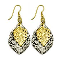 Double Leaves Earrings