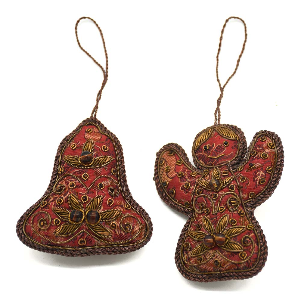 Bell & Fairy Ornaments-Set of 2