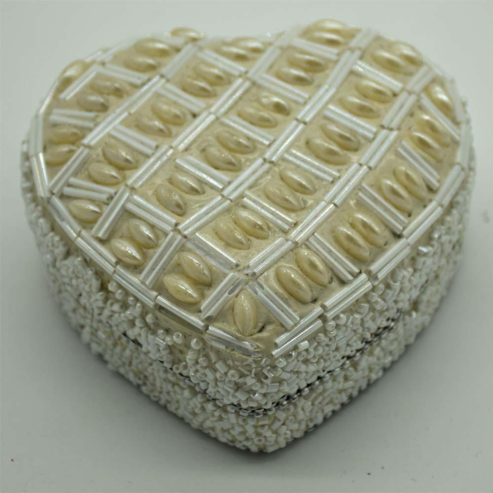 White Pearl Jewellery Box