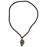 MNA-109,Tribal Beaded Bone Necklace-a