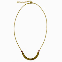 Red Beads U Necklace