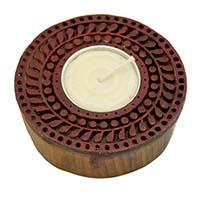 Wood Circular Tea Light Holder