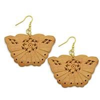Wood Butterfly Earrings