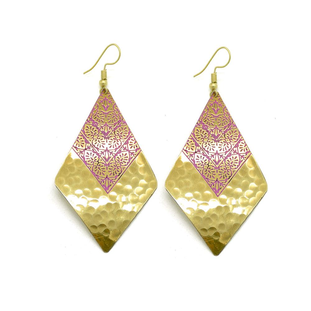 Brass 2 Tone Earrings