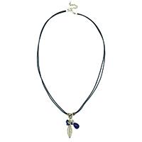 Leafy Charm Cotton Necklace