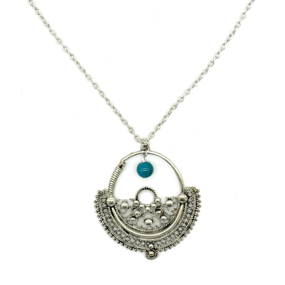 Mehul Silver Plated Necklace
