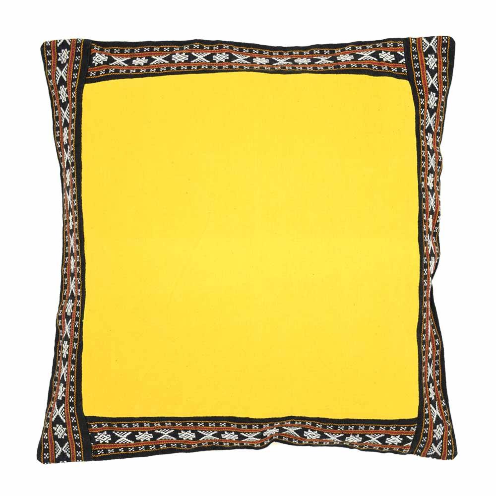 Bold Border Yellow Pillow Cover