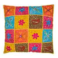 Jaipuri Patch Work Pillow Cover