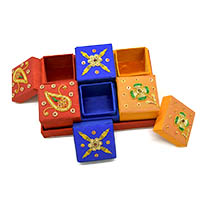 Zardozi Embroidered Ring Box-Set of 6