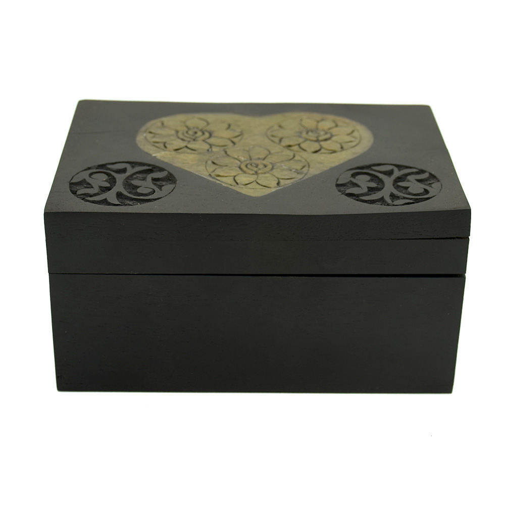 Engrave Flowers Decorative Gift Box
