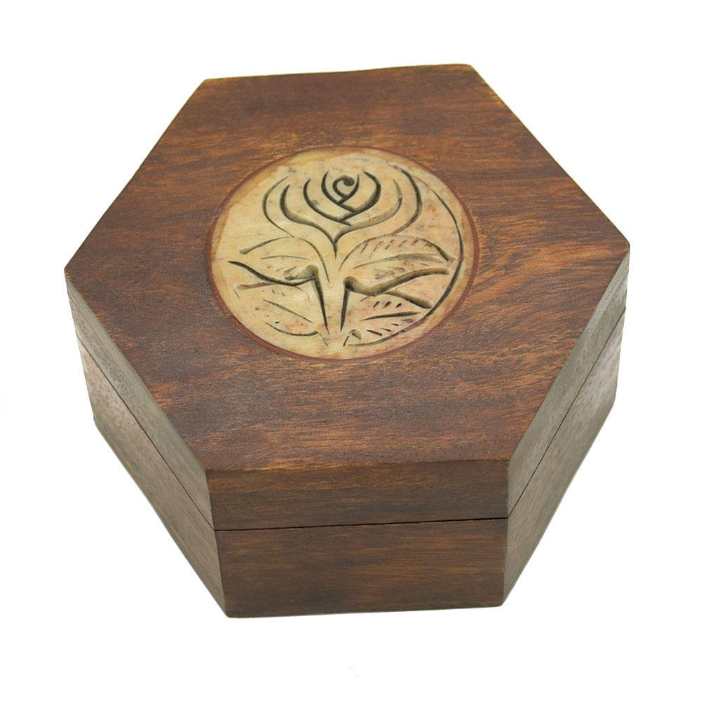 Engraved Rose Decorative Gift Box