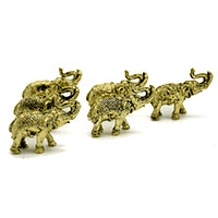 Brass Marching Elephant (Set of 6)
