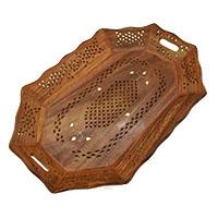 Mughal Jali Brass Dots Tray