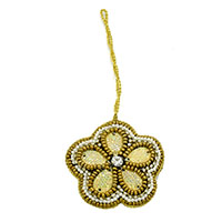Golden Beaded Ornament