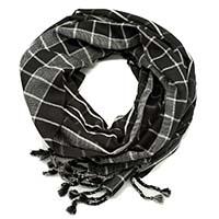 Check Black & White Scarf