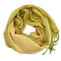 Soft Green Brown Scarf