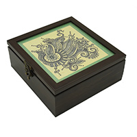 Floral Doodle Art Decorative Handmade Box