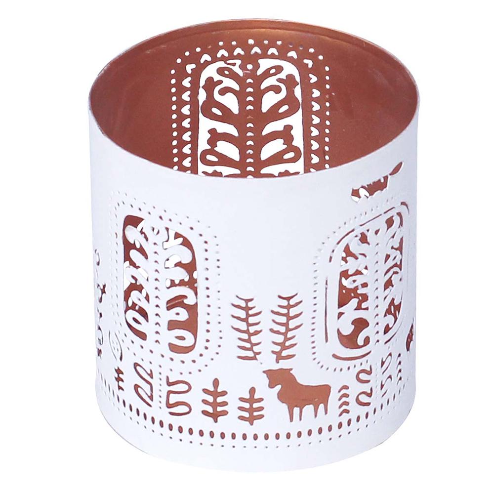 Handmade White Votive Tea-Light Candle Stand