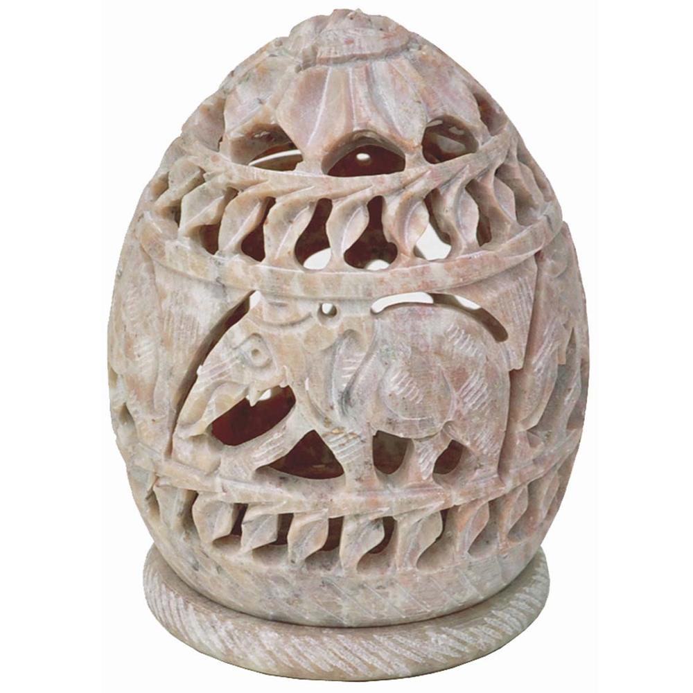 Hand-Carved SoapstoneCandle Tea Light Holder