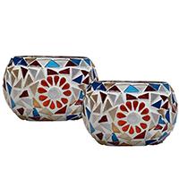 Colors Galore – Mosaic Glass Tea light