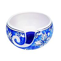 Ceramic Yarn Bowl Blue Color