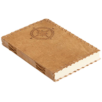 Antiqued Golden-Brown – Naval Compass Embossed Leather Journal