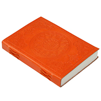Floral Chakra Embossed Leather Journal