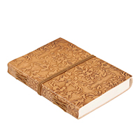 Floral Pattern Embossed Leather Journal