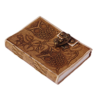 Owl Embossing Leather Journal