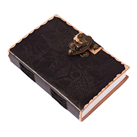 Embossed Owls Leather Journal