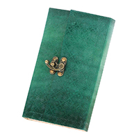 Paper & Leather Cover In Green Color Journal