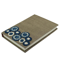 Blue & White Crocheted Circular Motifs Journal