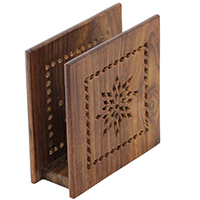 Napkin Holder with Perforated Floral Pattern
