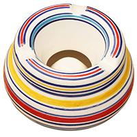 Circular Patterns Ceramic Moroccan Style Ashtray Holder