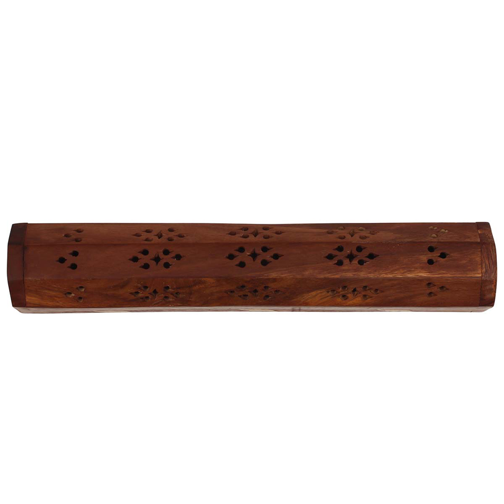 Hand-Carved Long Incense Burner Box