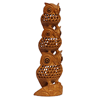 Decoration Piece of 3 Owls