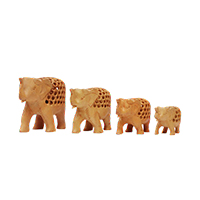 Set of 4 Elephants Figurine