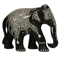 Artistic elephant sculpture